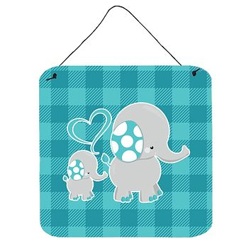 Mommy and Baby Elephant Wall or Door Hanging Prints BB6834DS66