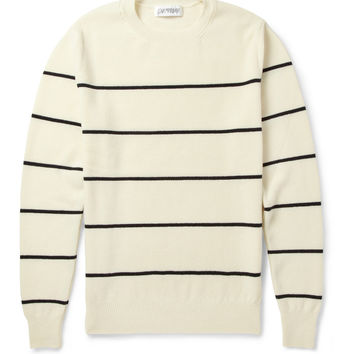 Exemplaire - Striped Cashmere-Piqué Sweater | MR PORTER
