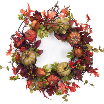 Falling Leaves Collection Gourd/ Berry Wreath