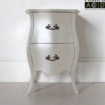 Curvy Bedside Table With Two Drawers