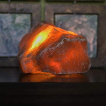 HIMALAYAN RAW SALT LIGHT - AMBER