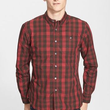 Men's Todd Snyder Extra Trim Fit Plaid Shirt,