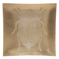 Threshold™ Decorative Glass Wall Tile - Gold Foiled Beetle