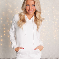 Short Beach Hoodie White CLEARANCE - Modern Vintage Boutique