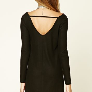 Cutout-Back Knit Swing Dress