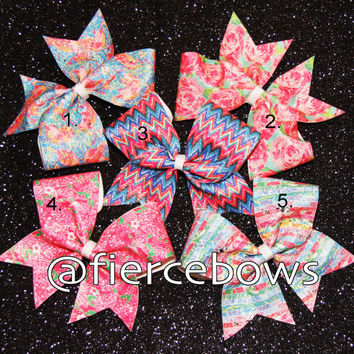 Lilly Inspired Sublimated Glitter Bows
