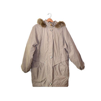 Vintage Etienne Aigner Coat Parka Jacket Beige Winter Coat Womens Parka Jacket Beige Winter Coat Etienne Aigner Jacket