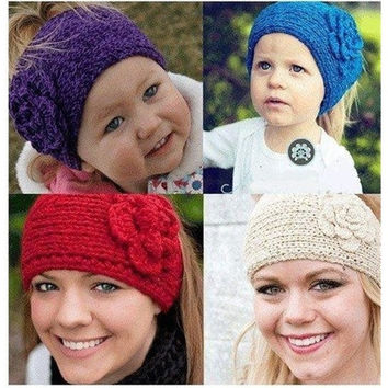 Women's Knitted Headband Hair band Head wrap Crochet Hair Accessories Warmers Ear Flower FH [9222194180]
