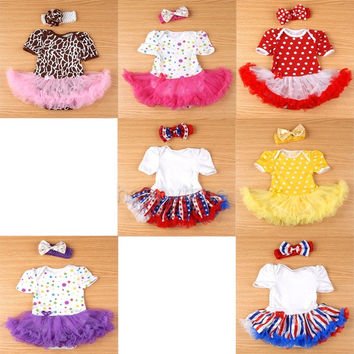 Lovely Baby Toddler Infant Girl One Piece Ruffles Tutu Romper Jumpsuit Dress = 1958385924