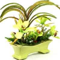Dining Table Centerpiece Silk Floral Arrangement | Tropical Floral | Coffee Table Decor | Paradise Island in our Patique Collection