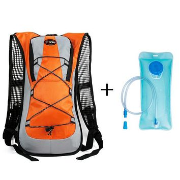 Fitness Running bag Outdoor Climbing Hiking Camelback Water s Hydration Vest Pack Cycling Backpack Water  2L Bladder Camping Rucksack Packsack