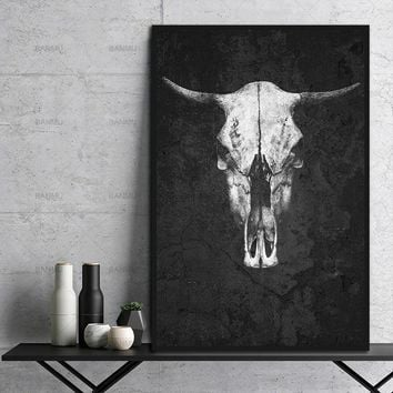 Canvas Painting wall art picture HD print Black And White Animal on Canvas decoration for the living room on the canvas No Frame