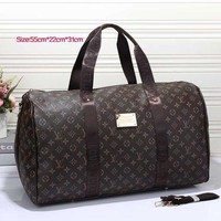LV Women Men Print Leather Luggage Travel Bags Tote Handbag I