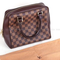 EX++ Authentic Louis Vuitton Damier Canvas Brera N51150 hand bag purse