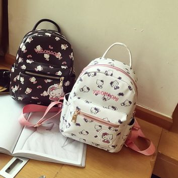 Hello kitty cute pu backpack,small shoulder bags,women's school bag,travel,satchel,lady's bag for girls