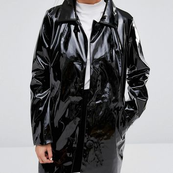 Monki Patent Coat