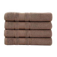Ottomanson Pure Turkish Cotton Collection 27 in. x W 52 in. H Luxury Bath Towel in Brown (Set of 4) CTW1008-27X52 at The Home Depot - Mobile