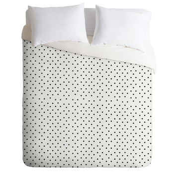 Allyson Johnson Tiny Polka Dots Duvet Cover