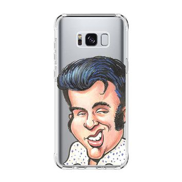 ELVIS PRESLEY CUTE FACE CLIPARTS Samsung Galaxy S4 S5 S6 S7 Edge Clear Case