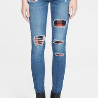 Women's rag & bone/JEAN Skinny Stretch Jeans (Sloane Plaid Repair)