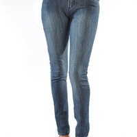 High Waist Blue Denim Jeans