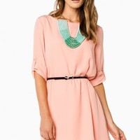 APRIL SHIFT DRESS IN PEACH