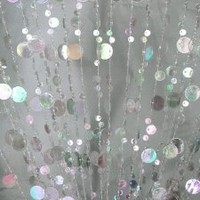 3 Ft X 6 Ft Bubble Beaded Curtain - Room Divider Iridesdent
