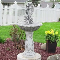 Outdoor Classics Fairy Flower Solar On Demand Fountain