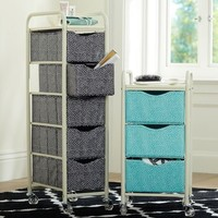 Mini Dot Ready-To-Roll Storage Cart