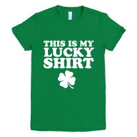 This Is My Lucky Shirt, Graphic Tee, St Patricks Day Tshirt