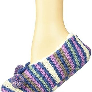 Keds Womens Multi Stripe Sherpa Slipper