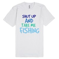 fish-Unisex White T-Shirt