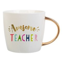 Awesome Teacher -  Coffee Mug with Gold Handle