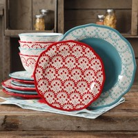 The Pioneer Woman Betsy Mix and Match 12-Piece Dinnerware Set - Walmart.com