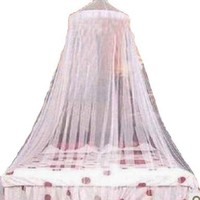 Elegant Lace Bed Canopy Mosquito Net White