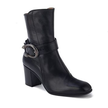 Gucci Women's Leather Ankle Boot Shoes Black