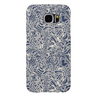 Cool Modern Abstract Wavy Stripes Pattern Samsung Galaxy S6 Cases