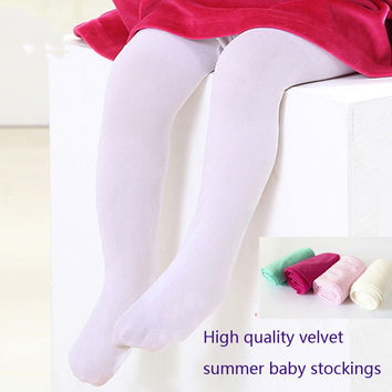 baby girl tights  for girls bebe newborns toddler infant ballet pantyhose solid velvet tights  0-2Y
