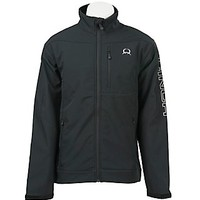Cinch Tech Men's Black with Silver Logos Bonded Jacket