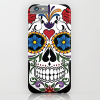 Colorful Sugar Skull iPhone & iPod Case by Smyrna