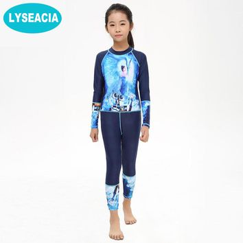 LYSEACIA Child Swimming Clothes Zipper 2017 Summer Beach Girls Swimsuit Kids One Piece Swimwear Girl Professional Swimming Suits