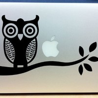 Owl On Branch - Vinyl Macbook / Laptop Decal Sticker Graphic