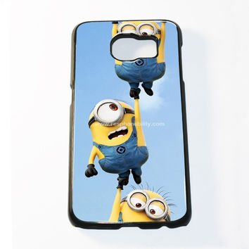 Falling Minions Samsung Galaxy S6 and S6 Edge Case