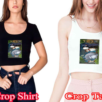 "Where studio ghabi the Wild Things Arecrop shirt and crop tank sexy shirt women s m l xl 2xl ""NS"""