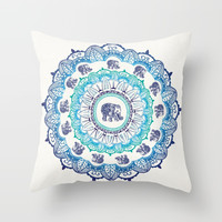 Lucky Elephant Throw Pillow by rskinner1122