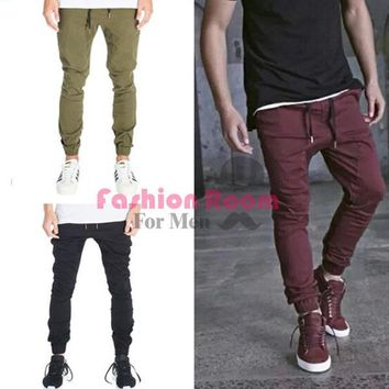 mens joggers casual cargo pants fashion men Jogger Pants men hip hop army urban clothes pants green ,black wine red trousers