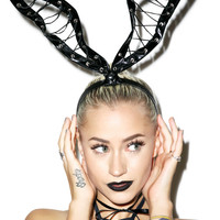 Tie Me Up Bunny Ears BLACK One