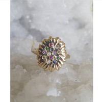 Rainbow Burst Ring