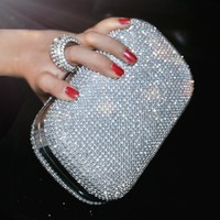 Clutches Evening Bag -studded 3 Color
