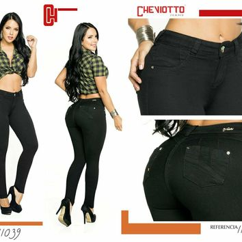 100%  Authentic Colombian  Push Up Jeans 11039  by Cheviotto (R)